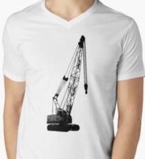 black crane Men's V-Neck T-Shirt