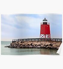 Lighthouse at Charlevoix, Michigan Poster