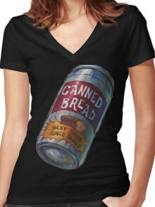 Canned Bread Women's Fitted V-Neck T-Shirt
