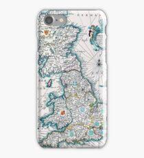 Vintage Antique Map of Britannia iPhone Case/Skin