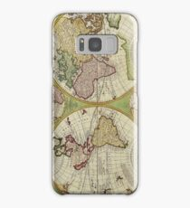 Vintage Map of the World Circa 1742 Samsung Galaxy Case/Skin