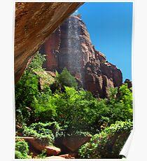 Waterfall, Zion National Park, Utah Poster