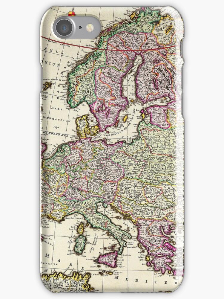 Vintage Map of Europe by pjwuebker