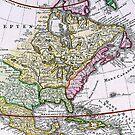 Vintage Map of America by pjwuebker