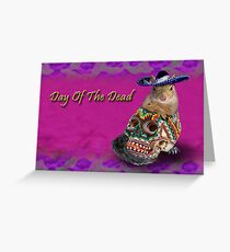 Day Of The Dead Squirrel Greeting Card