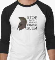Oblivion - Stop Right There Criminal Scum! Men's Baseball ¾ T-Shirt