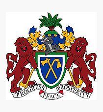 Gambia Coat of Arms  Photographic Print