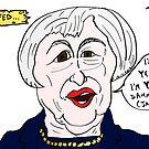 Janet Yellen political cartoon by Binary-Options