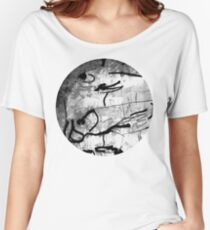 blank & white fishes Women's Relaxed Fit T-Shirt