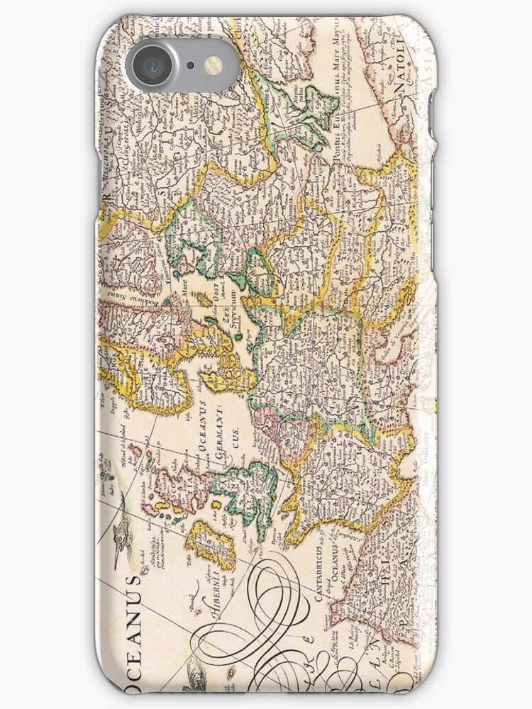Vintage Antique Map of Europe Circa 1652 by pjwuebker