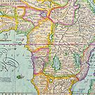Vintage Antique Map of Africa by pjwuebker