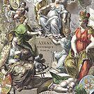 Vintage Antique Atlas Cover by pjwuebker