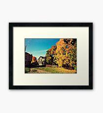 Autumn is Golden Framed Print