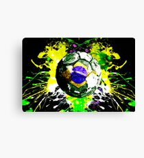 football Brazil Canvas Print