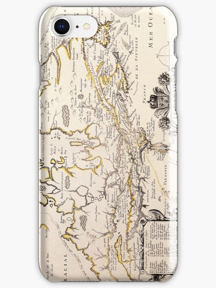 Antique Vintage Map of Canada Circa 1655 by pjwuebker