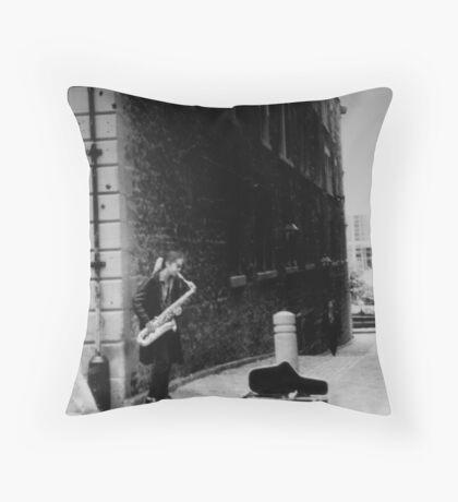 Soulful Sax Throw Pillow