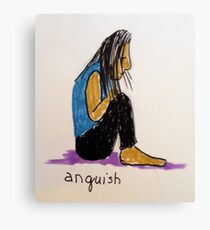 Daily drawing two - Anguish Canvas Print