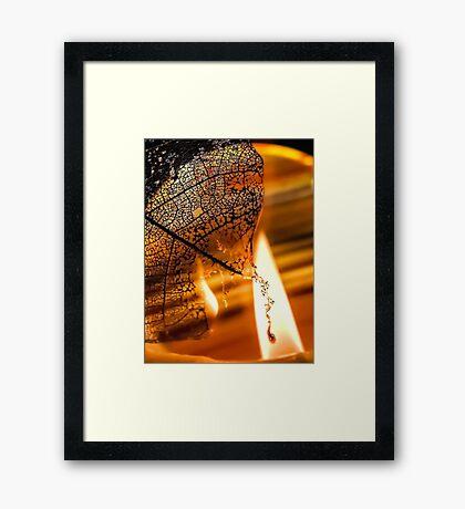 Dark Flames Framed Print