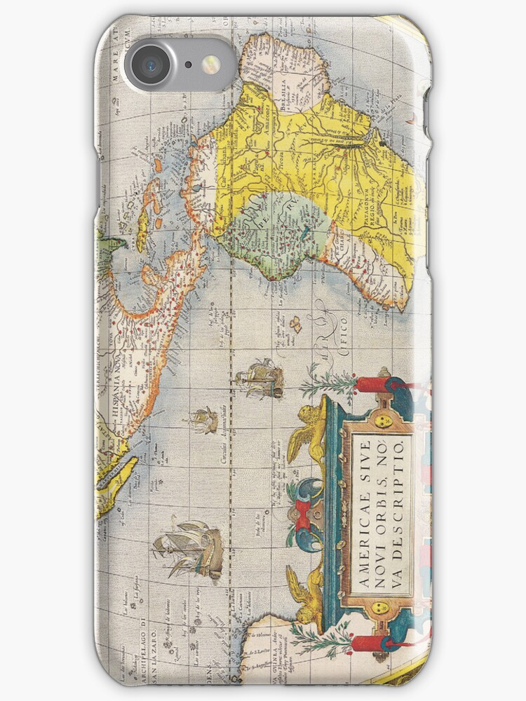 Antique Map of Western Hemisphere Circa 1579 by pjwuebker