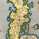 Antique Map of Japan Circa 1590 by pjwuebker