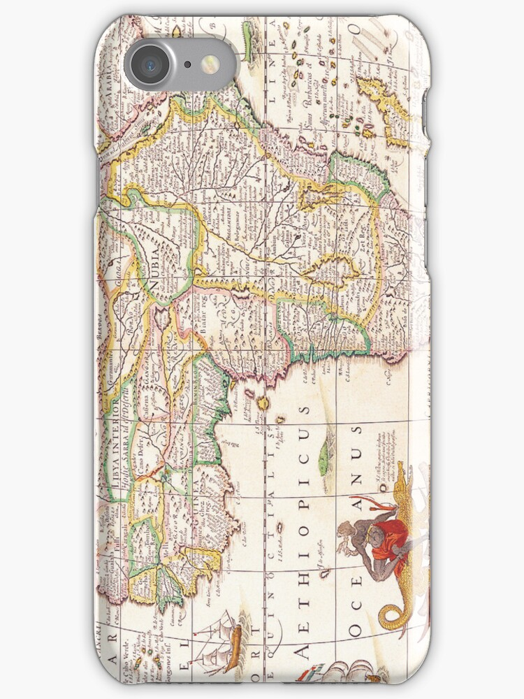 Antique Map of Africa by pjwuebker