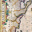 17th Century Map of North America by pjwuebker