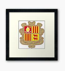 Andorra Coat of Arms  Framed Print
