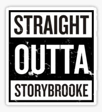 Straight Outta Storybrooke - Black Words Sticker