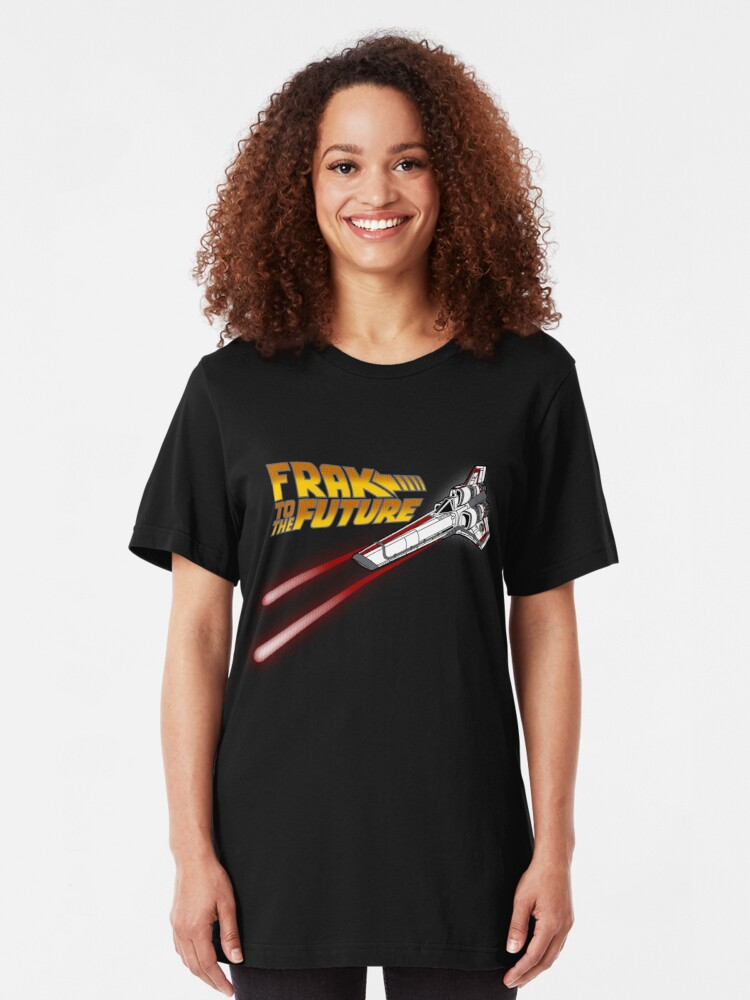 Alternate view of FRAK to the FUTURE (v2) Slim Fit T-Shirt