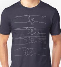 knife club, crk sebenza, hinderer, spyderco, strider Unisex T-Shirt