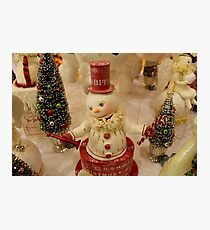 Christmas Snowman - Red Hat Photographic Print