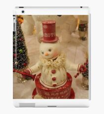 Christmas Snowman - Red Hat iPad Case/Skin
