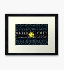 digital Flag Argentina Framed Print