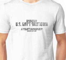 Gov't Shutdown by Tyler Durden Unisex T-Shirt