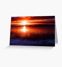 Lake Cullulleraine Sunset, Victoria Greeting Card