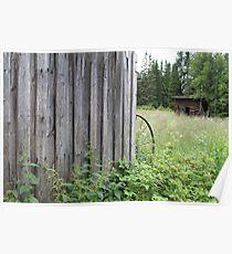 Old farm. Someone used to live here. Elverum, Norway. Poster