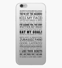 Alan Partridge Quotes (Black Text) iPhone Case