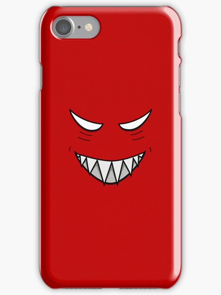 Evil Grinning Face Red IPhone Case by Boriana Giormova