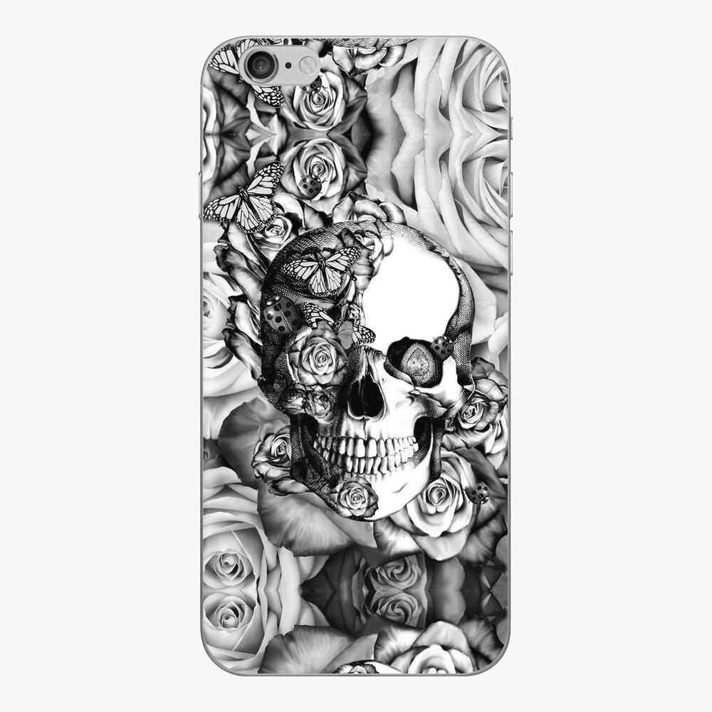 Ladybug Rose skull.  iPhone Klebefolie