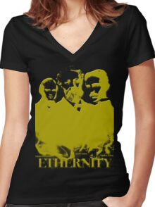 Ethernity in gold Women's Fitted V-Neck T-Shirt