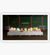 South Park's last supper Sticker