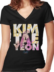 Girls' Generation (SNSD) Taeyeon 'Party' Women's Fitted V-Neck T-Shirt