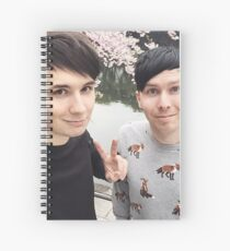 Japhan Dan and Phil - ALL PRODUCTS AVAILABLE Spiral Notebook