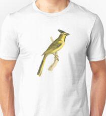 Crested Bunting Bird Illustration by William Swainson Unisex T-Shirt
