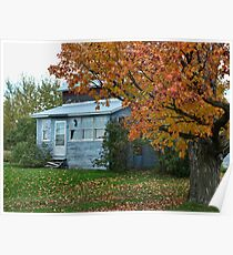 The old house in autumn Poster