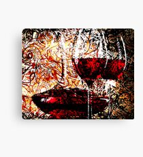 Abstract Influenced by Red Wine Canvas Print