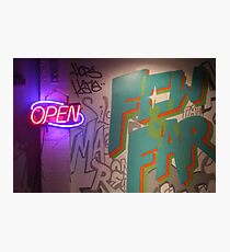 Open Sign Photographic Print