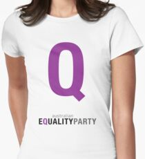AEP Q mark & logo Women's Fitted T-Shirt