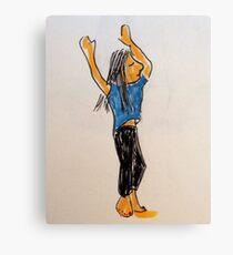 Daily Drawing Eight - abandon Canvas Print