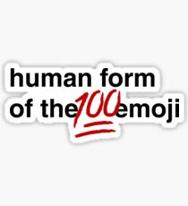 Gina Linetti - Human Form of the 100 Emoji Sticker